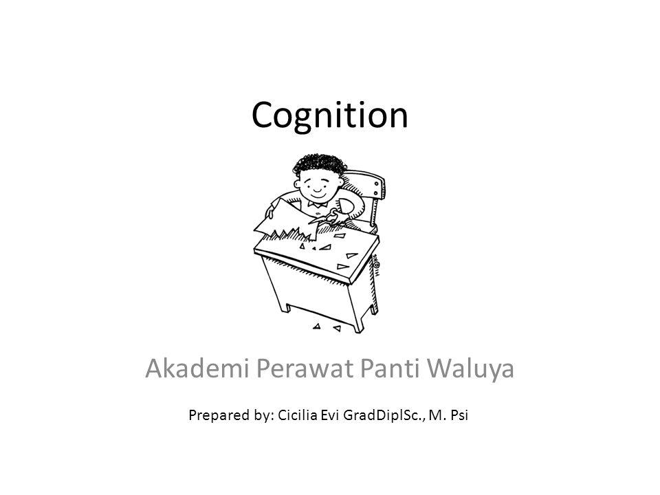 Cognition Akademi Perawat Panti Waluya Prepared by: Cicilia Evi GradDiplSc., M. Psi