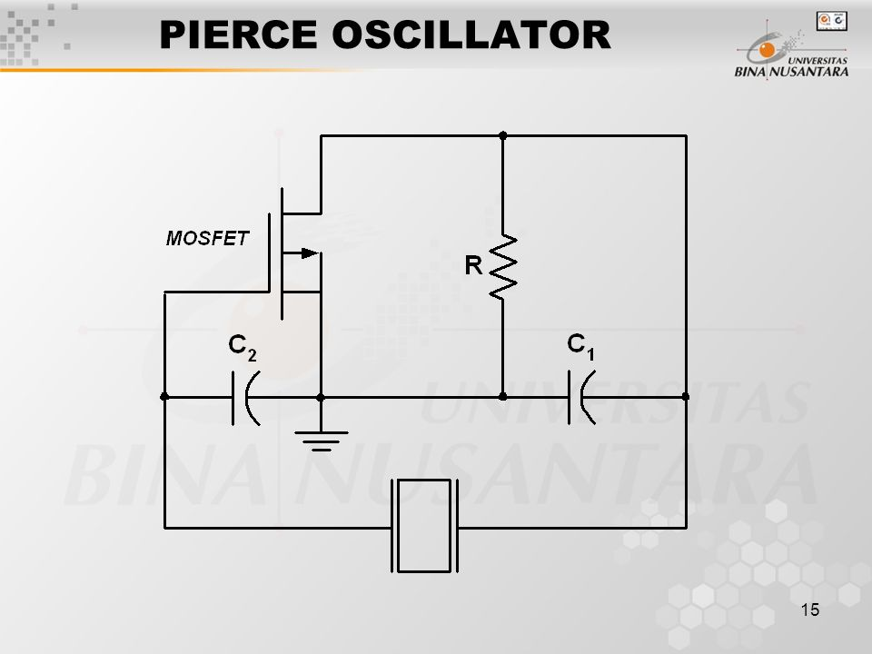 15 PIERCE OSCILLATOR