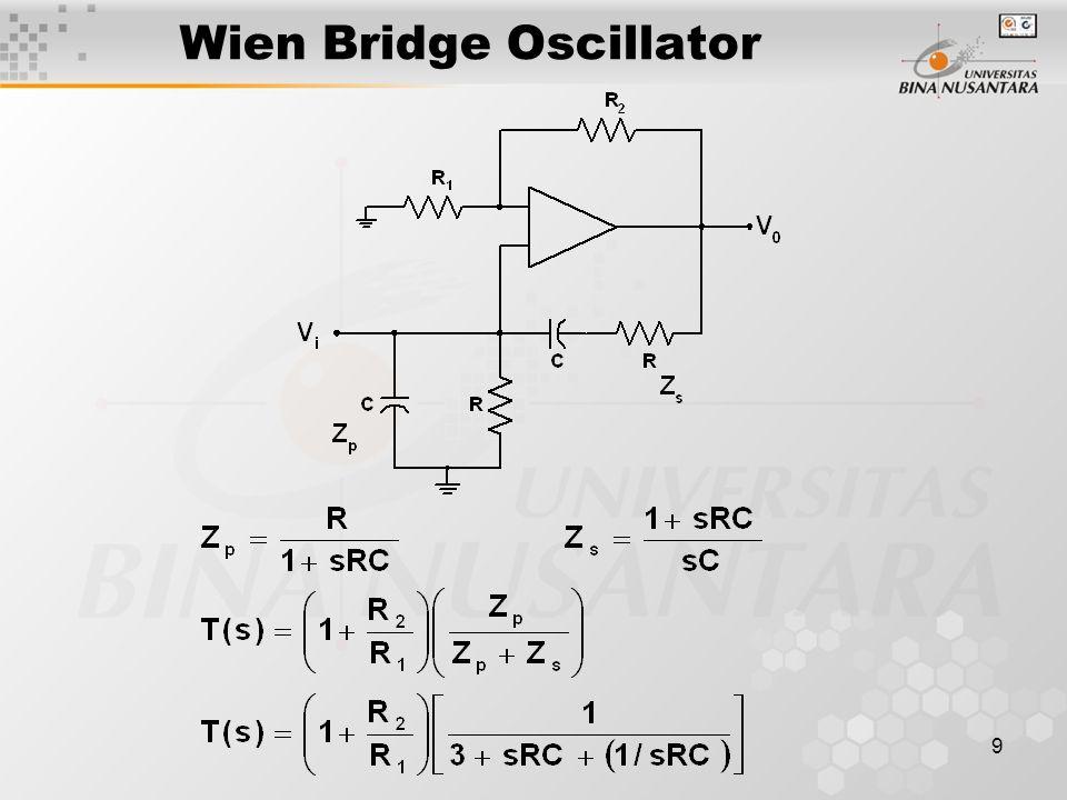 9 Wien Bridge Oscillator