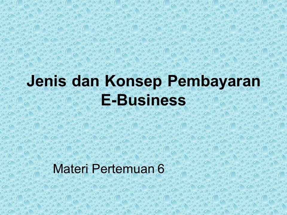 Jenis dan Konsep Pembayaran E-Business Materi Pertemuan 6