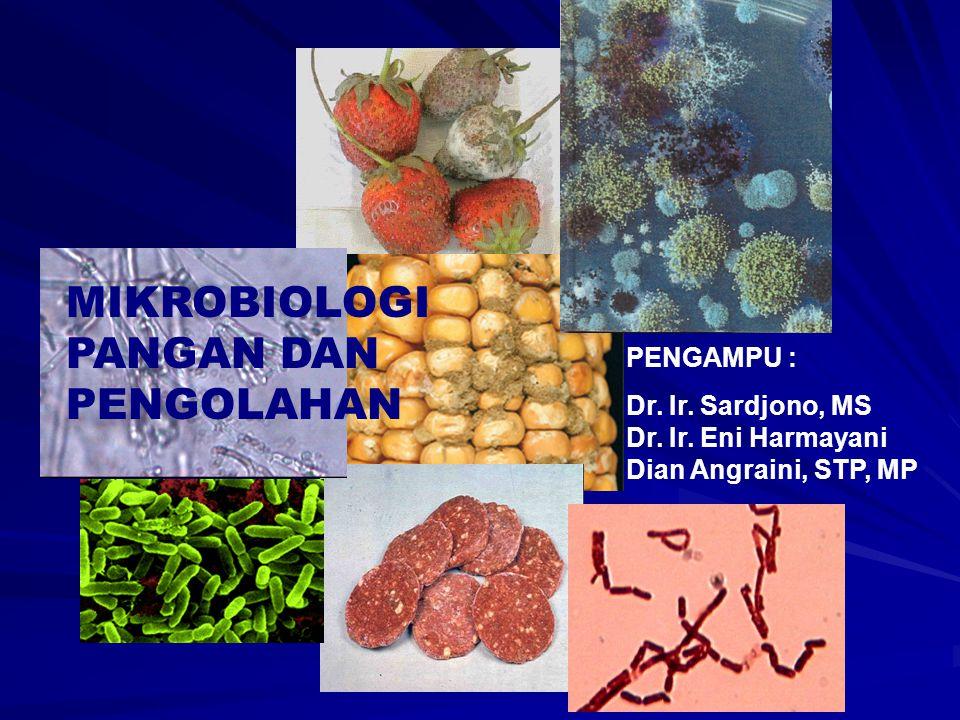 PENGAMPU : Dr. Ir. Sardjono, MS Dr. Ir. Eni Harmayani Dian Angraini, STP, MP
