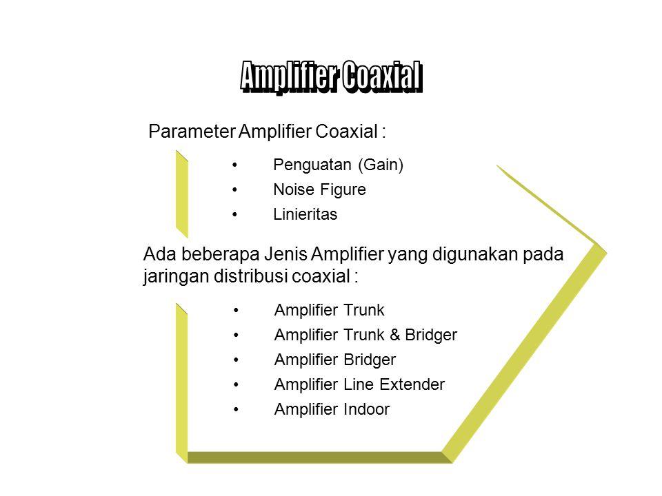 Variabel Equalizer, memberikan ekualisasi antara input dan output hybrid amplifier.