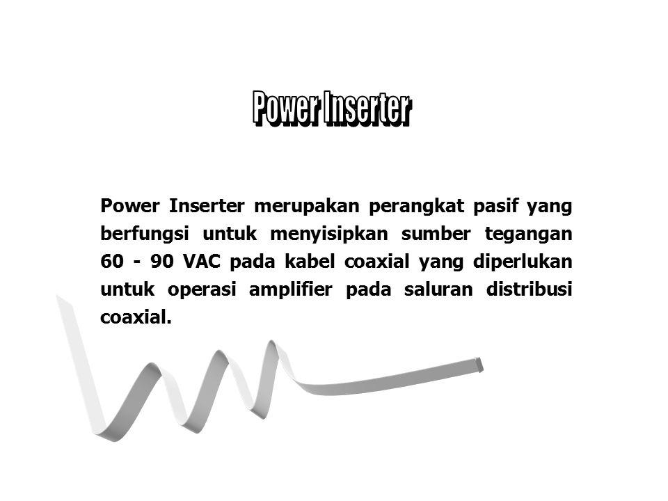 nPower Inserter nSplitter/Combiner nDirectional Coupler nTap nTerminator
