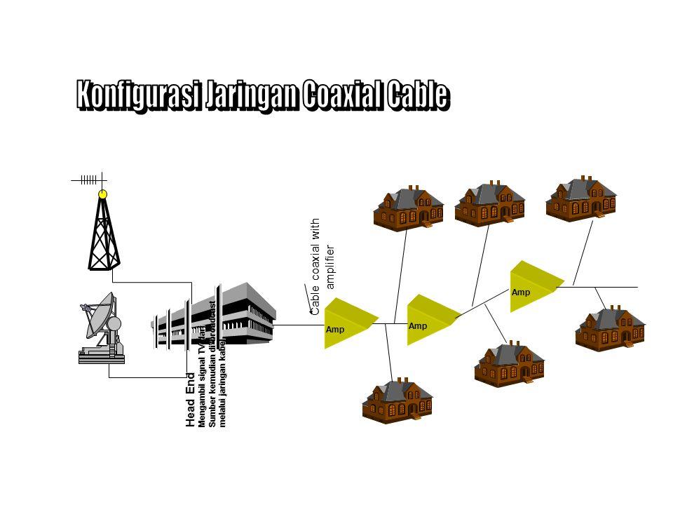 Struktur Jaringan terdiri dari Head end, kabel coaxial sebagai jaringan distribusi dilengkapi dengan cascade amplifier, dan Customer Interface Unit di lokasi pelanggan.