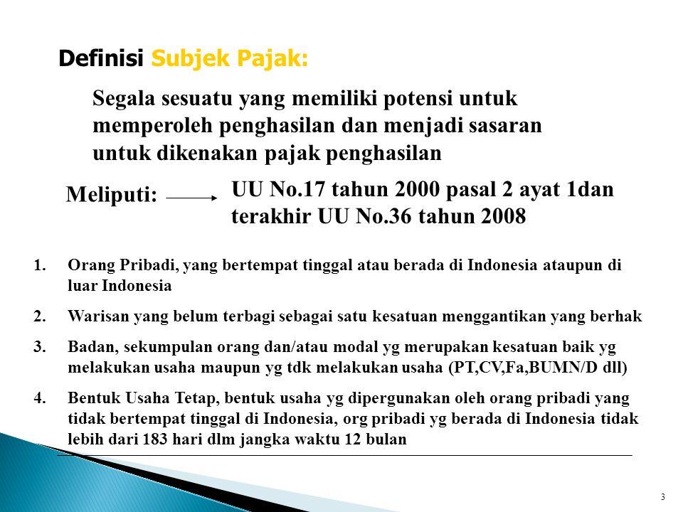  PKP = Penghasilan Netto  = Pengh bruto – biaya yg diperkenankan sesuai UU PPh  Contoh1 :  Penjualan brutoRp.6.100.000.000,-  Retur penjualanRp.60.000.000,-  Potongan penjualanRp.40.000.000,-+Rp.