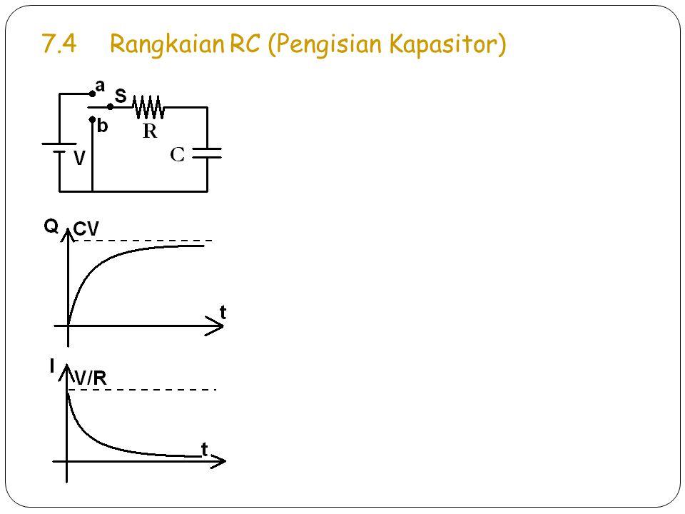 7.4Rangkaian RC (Pengisian Kapasitor)