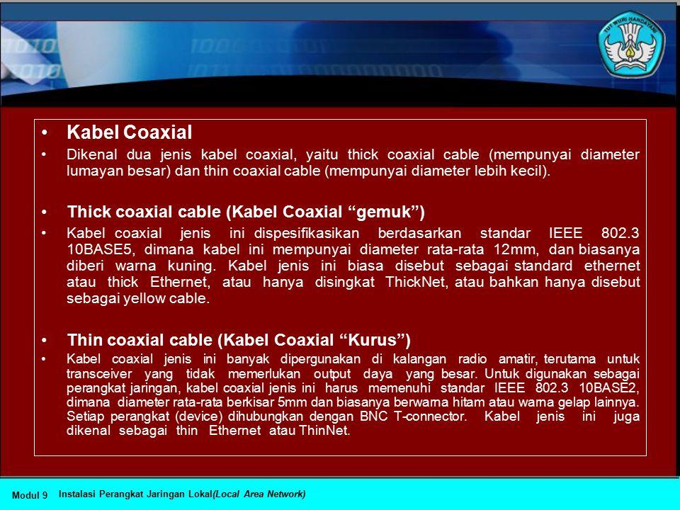 Topologi Jaringan dan Jenis Kabel yang Sering Digunakan Topologi JaringanJenis kabel yang umum digunakan Topologi BusCoaxial, twisted pair, fiber Topo