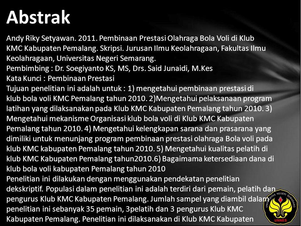 Abstrak Andy Riky Setyawan. 2011.