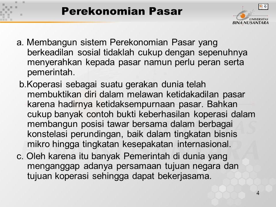 4 Perekonomian Pasar a.