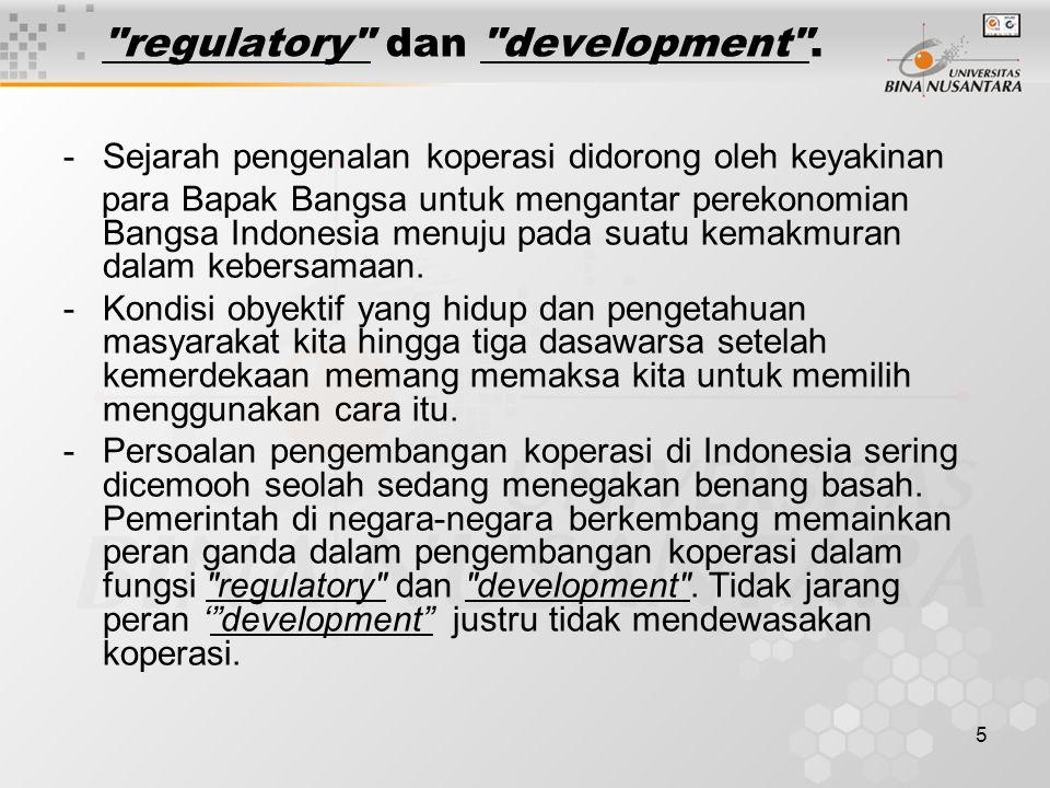 5 regulatory dan development .