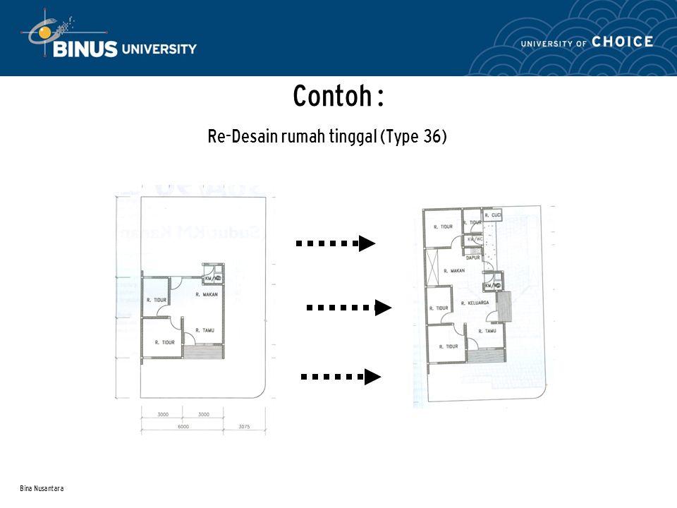 Bina Nusantara Contoh : Re-Desain rumah tinggal (Type 36)