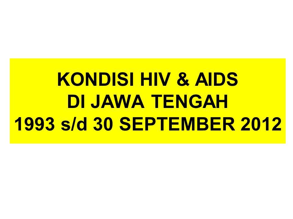KONDISI HIV & AIDS DI JAWA TENGAH 1993 s/d 30 SEPTEMBER 2012