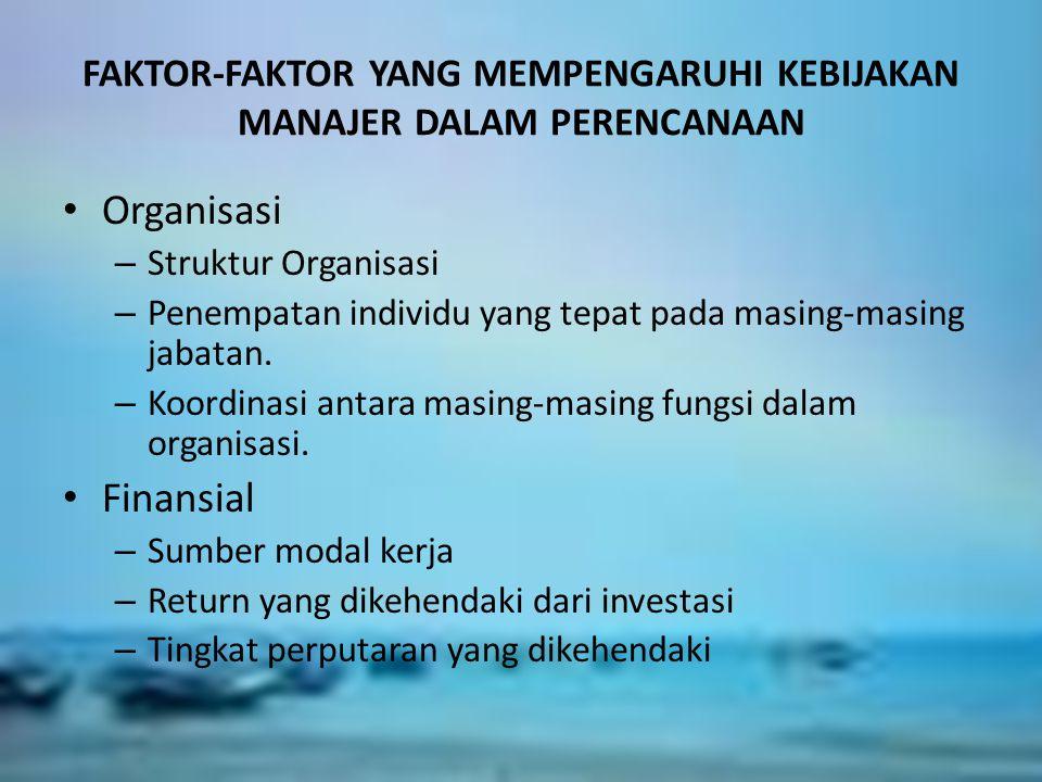 APAKAH SISTEM ITU ? FAKTOR-FAKTOR YANG MEMPENGARUHI KEBIJAKAN MANAJER DALAM PERENCANAAN Organisasi – Struktur Organisasi – Penempatan individu yang te