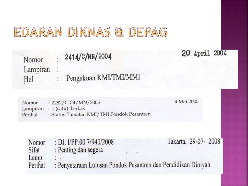  INTERNATIONAL CONFERENCE ON EDUCATION 7th session, Geneva, 8-11 September 2004  Dilaporkan bahwa KMI/TMI sebagai salah satu alternatif pendidikan di Indonesia yang hasilnya tidak kalah dengan SMA
