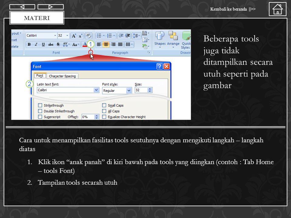Materi Kembali ke beranda   >> MATERI Power Point menyediakan fasilitas Quick Access Toolbar Untuk menampung tools dasar yang sering digunakan seperti save , print , redo , undo dan lainya Untuk menambah ikon pada Quick Access Toolbar 1.Klik kanan pada ikon yang diinginkan 2.Pilih add to quick access toolbar