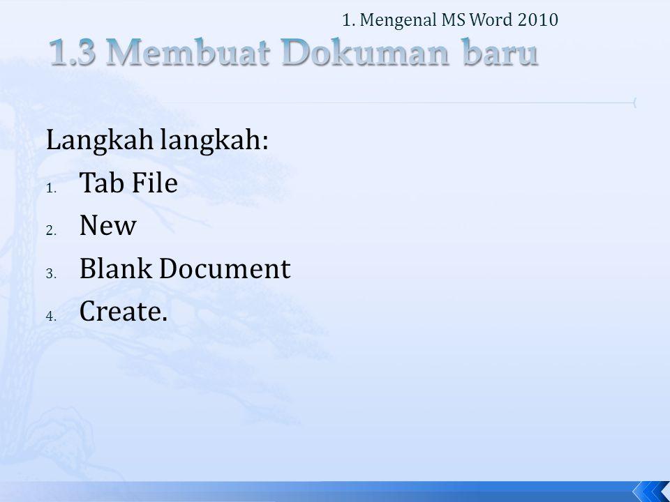 Langkah langkah: 1.Tab File 2. Save as, pilih tempat penyimpanan.