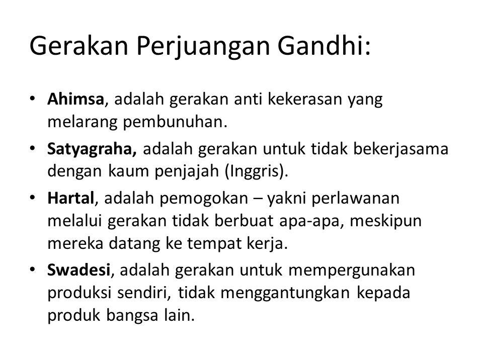 Gandhi melakukan ekperimen dengan kehidupannya sendiri yang nantinya akan menyadarkan dunia bahwa ada jenis senjata lain di dunia ini yang dapat digunakan untuk memerdekakan diri seorang manusia dari belenggu manusia lain, sebuah senjata yang sangat beradab dan berkemanusiaan, yaitu Kasih.