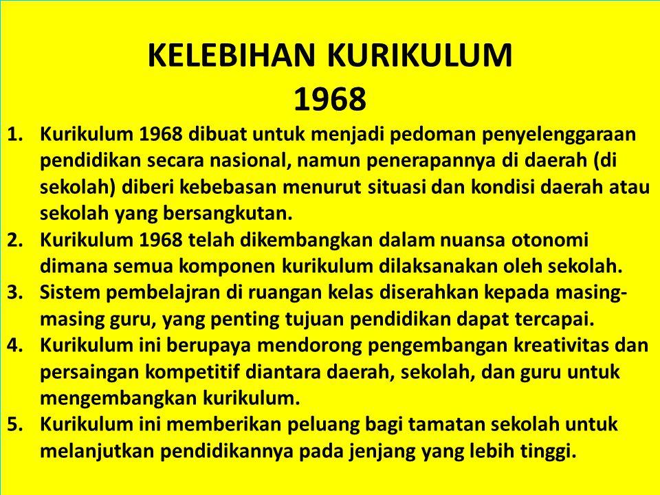 KURIKULUM 5 1968