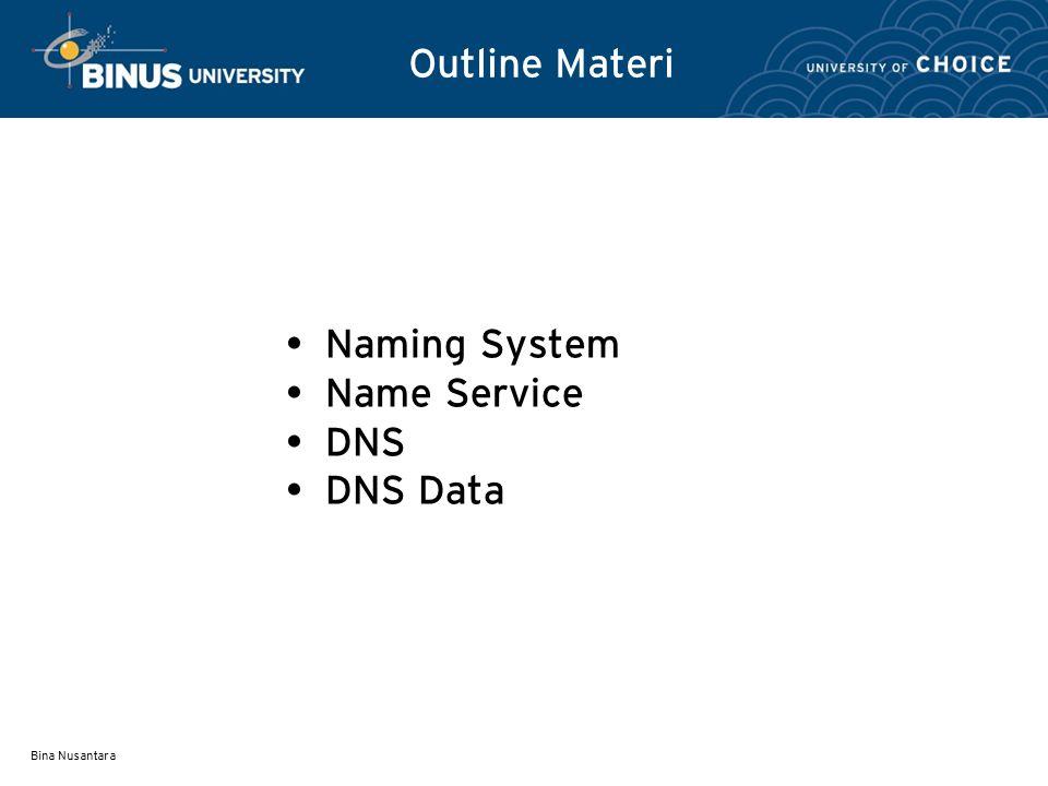 Bina Nusantara Root server yang ada di puncak merupakan otoritas dari top-level domain.