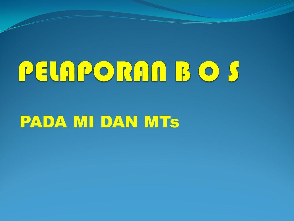 LAMPIRAN PENDATAAN BOS 1.SURAT PERJANJIAN PEMBERIAN BANTUAN (Formulir BOS-01) 2.