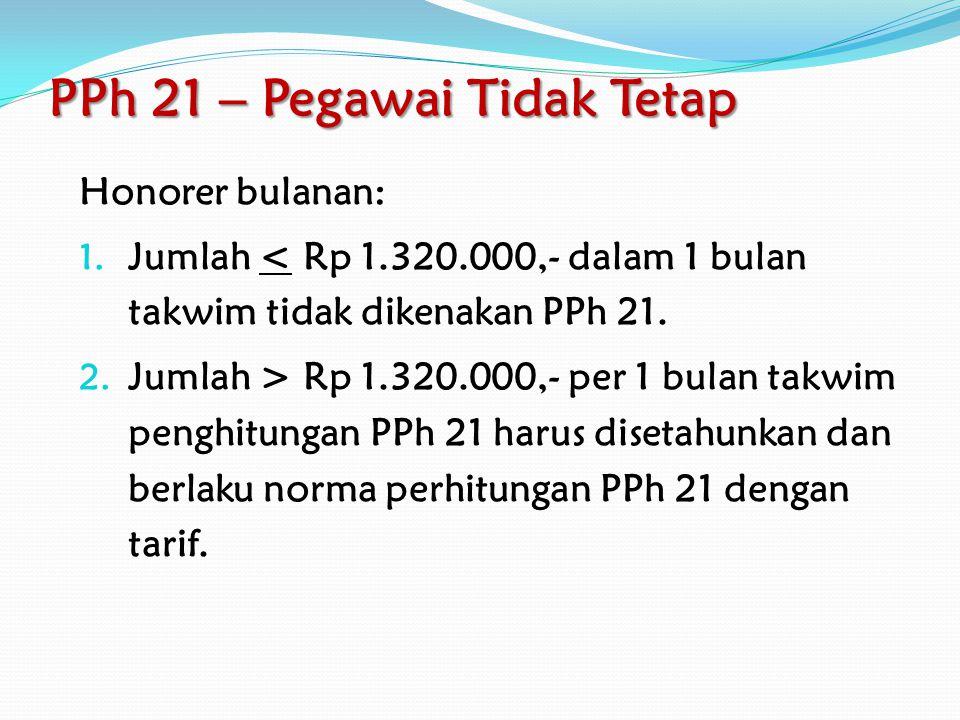 PPh 21 – Pegawai Tetap Peraturan Menteri Keuangan No.
