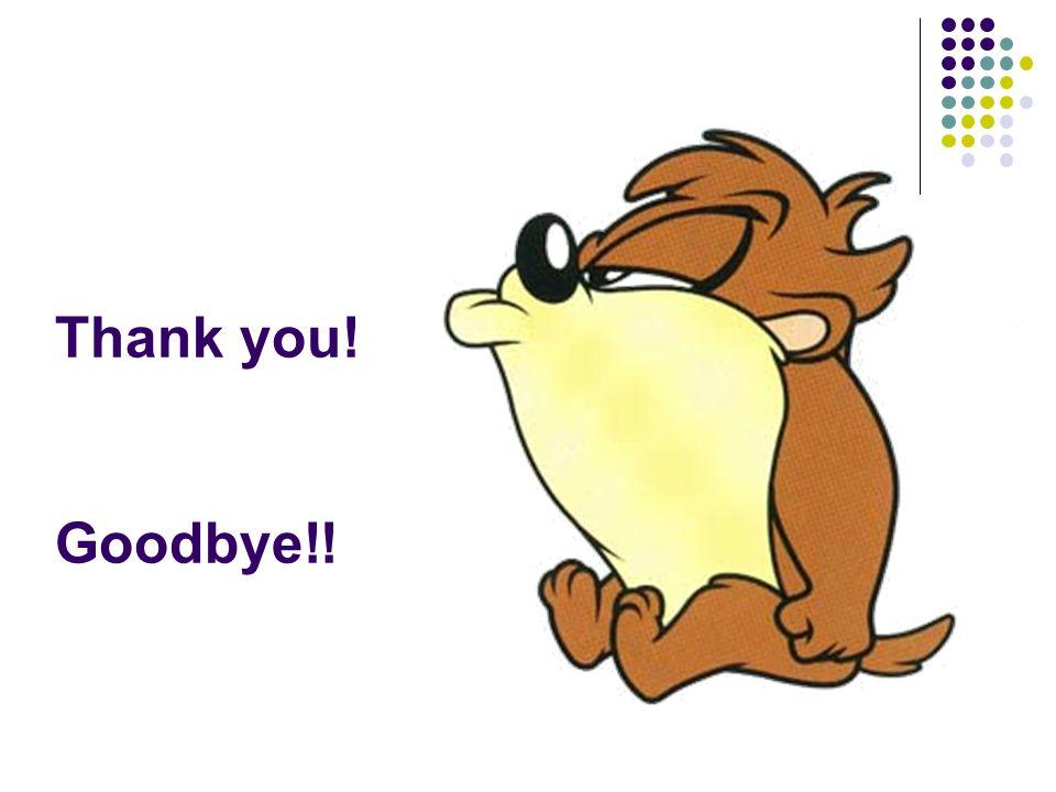 Thank you! Goodbye!!