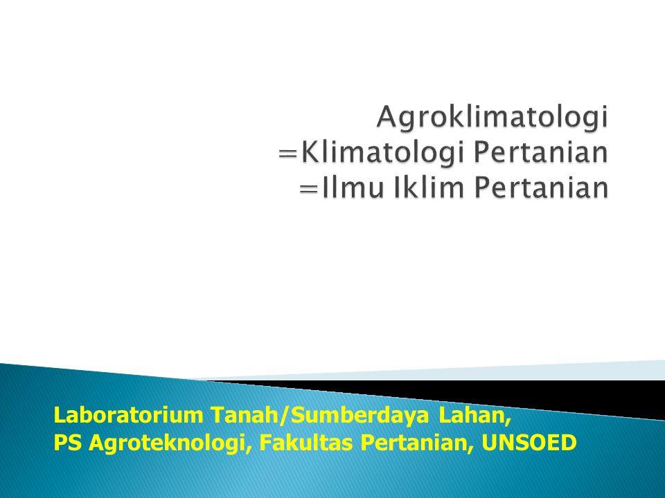 Laboratorium Tanah/Sumberdaya Lahan, PS Agroteknologi, Fakultas Pertanian, UNSOED