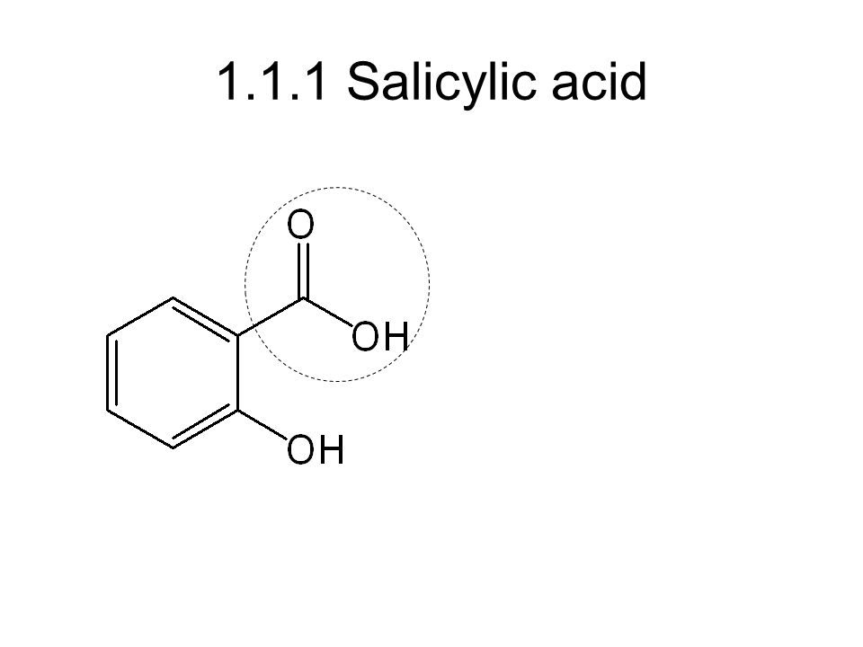 1.1.1 Salicylic acid