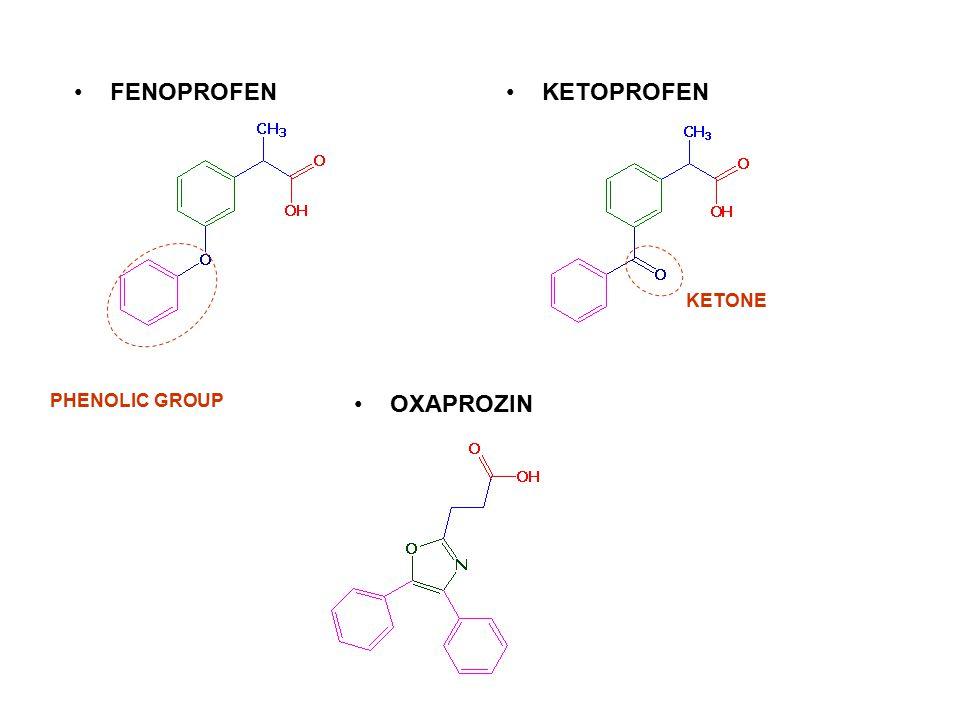 FENOPROFEN PHENOLIC GROUP KETONE KETOPROFEN OXAPROZIN