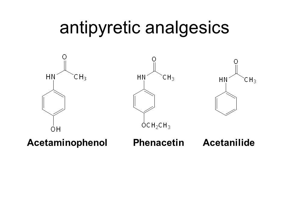 antipyretic analgesics AcetaminophenolPhenacetinAcetanilide