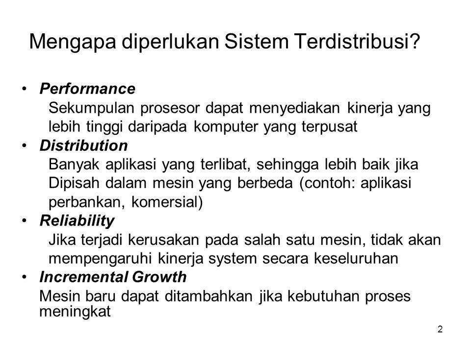2 Mengapa diperlukan Sistem Terdistribusi.