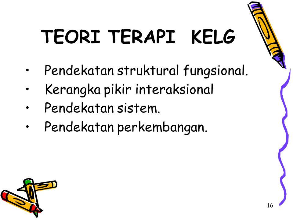 16 TEORI TERAPI KELG Pendekatan struktural fungsional.