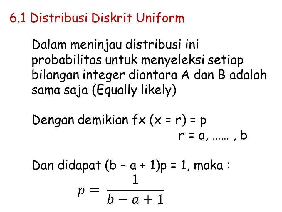 a.Dapat dilakukan melalui batasan dan Distribusi Binomial dengan B(n,p), bila n mencapai nilai besar tidak terbatas dan juga P sangat kecil maka dapat dilakukan dengan Poisson Variate.