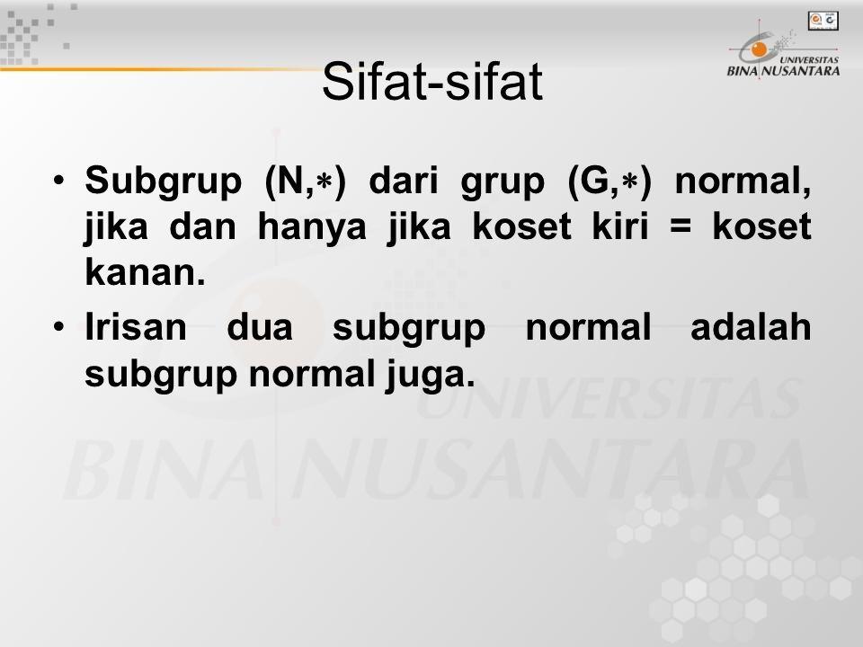 Contoh-contoh: Mana yang subgrup normal.