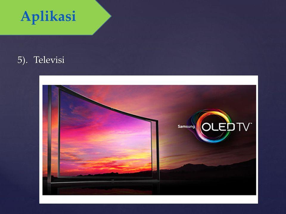 5).Televisi Aplikasi