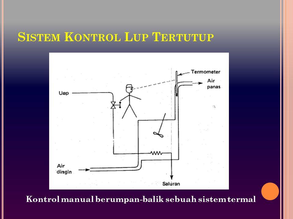 S ISTEM K ONTROL L UP T ERTUTUP Kontrol manual berumpan-balik sebuah sistem termal
