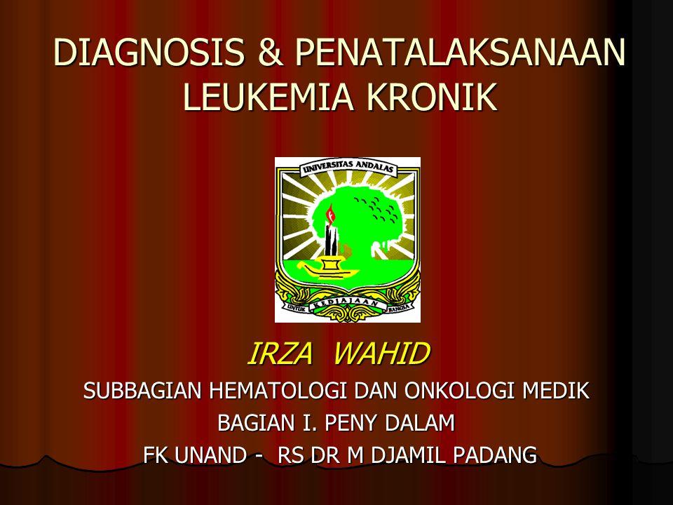 LEUKEMIA Definisi : Abnormalitas Proliferasi / diferensiasi sel induk darah Serial Mieloid Serial Limfoid Leukemia mieloblastik akut Leukemia limfoblastik akut ( Tu.