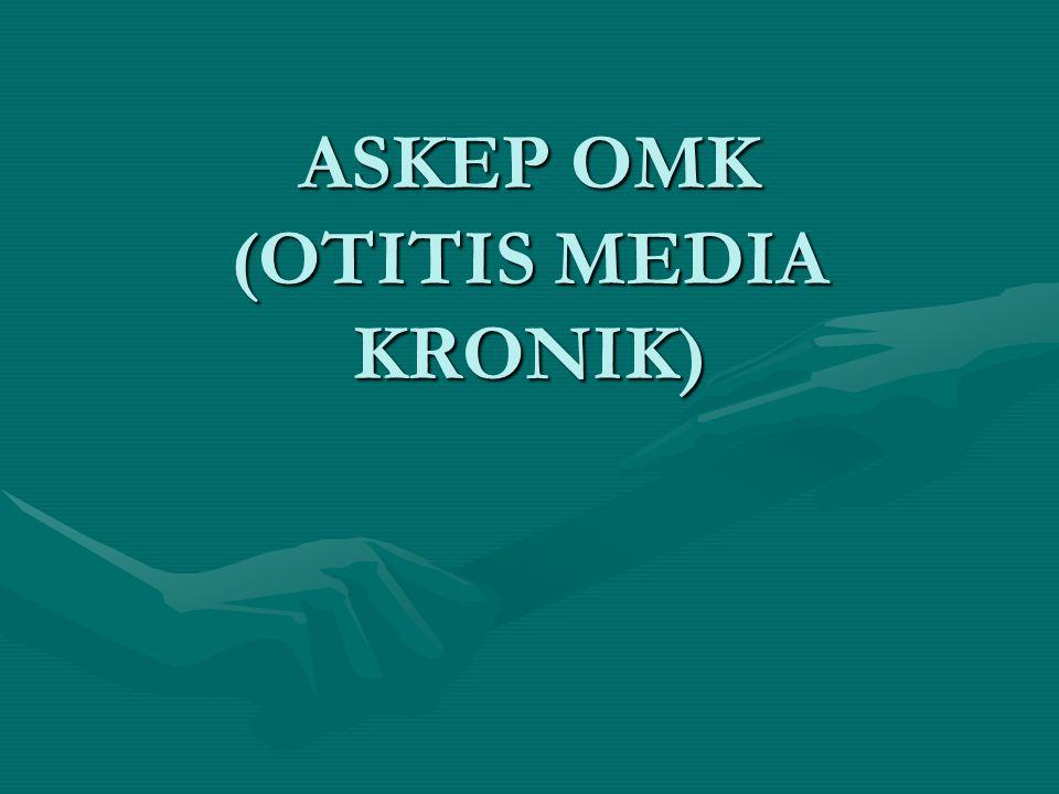 Pengertian –Otits media kronik adalah kondisi yang berhubungan dengan patologi jaringan ireverisbel dan biasanya disebabkan karena episode berulang otitis media akut.