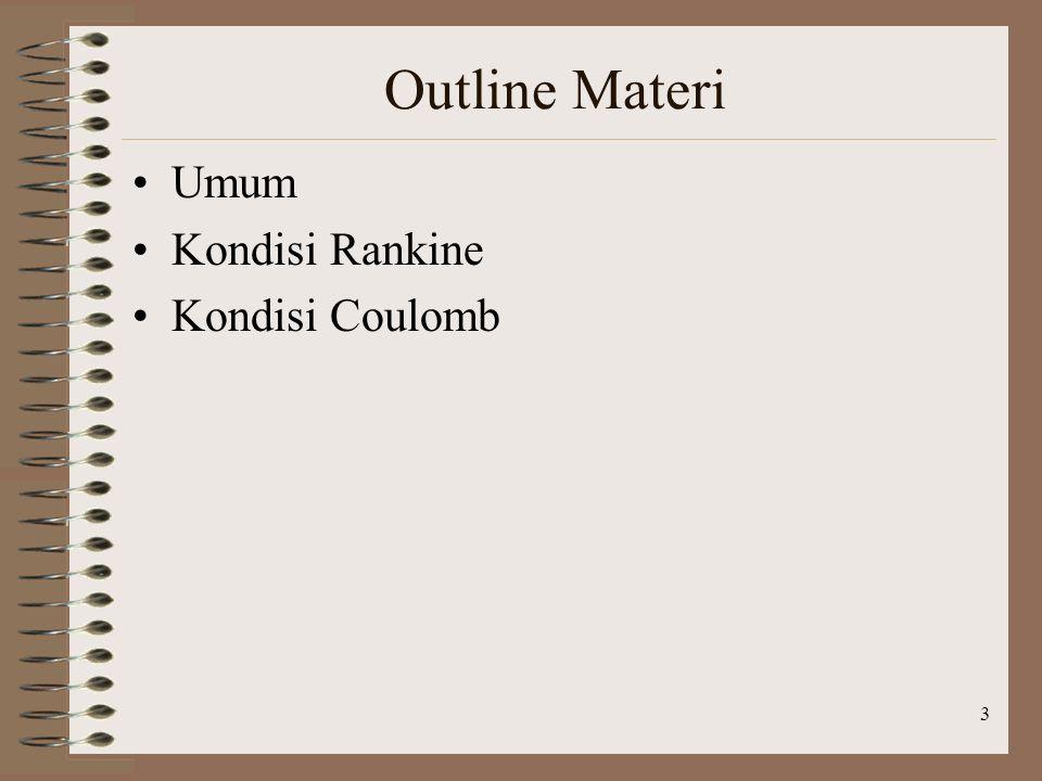 3 Outline Materi Umum Kondisi Rankine Kondisi Coulomb