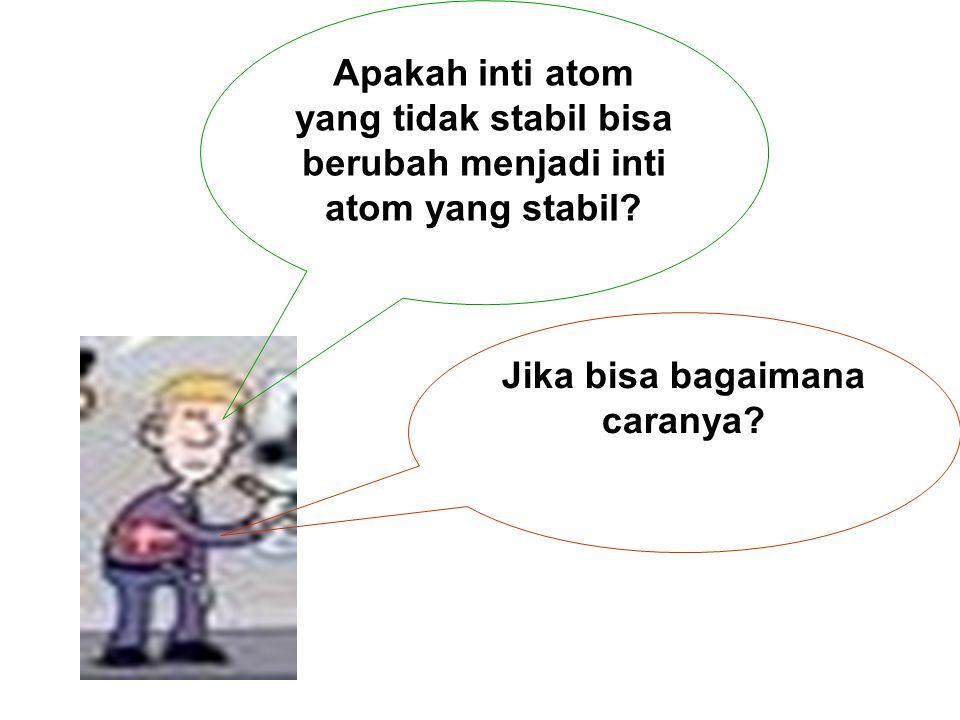 Radioaktivitas adalah pemancaran sinar radioaktif secara spontan oleh inti atom tidak stabil menjadi inti atom yang stabil