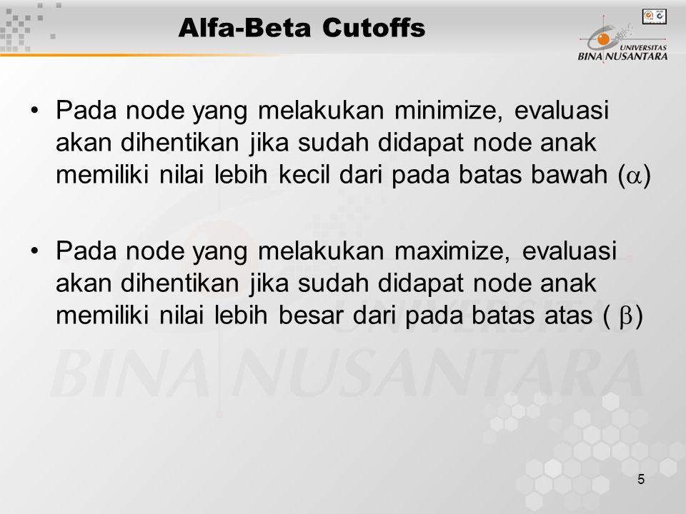 6 Alfa-Beta Cutoffs Alpha Cutoffs