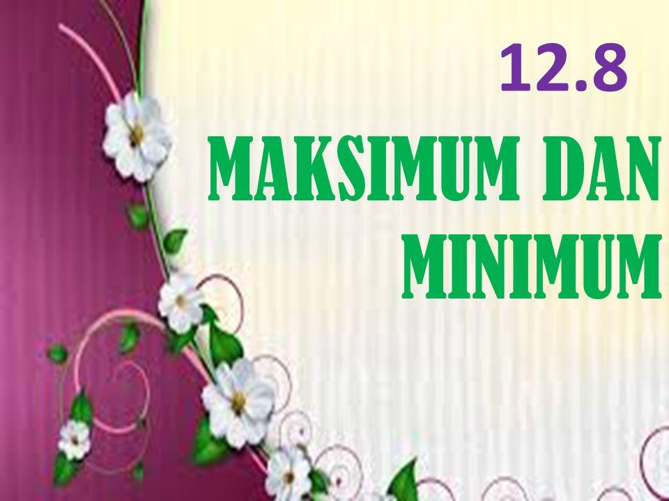 12.8 MAKSIMUM DAN MINIMUM