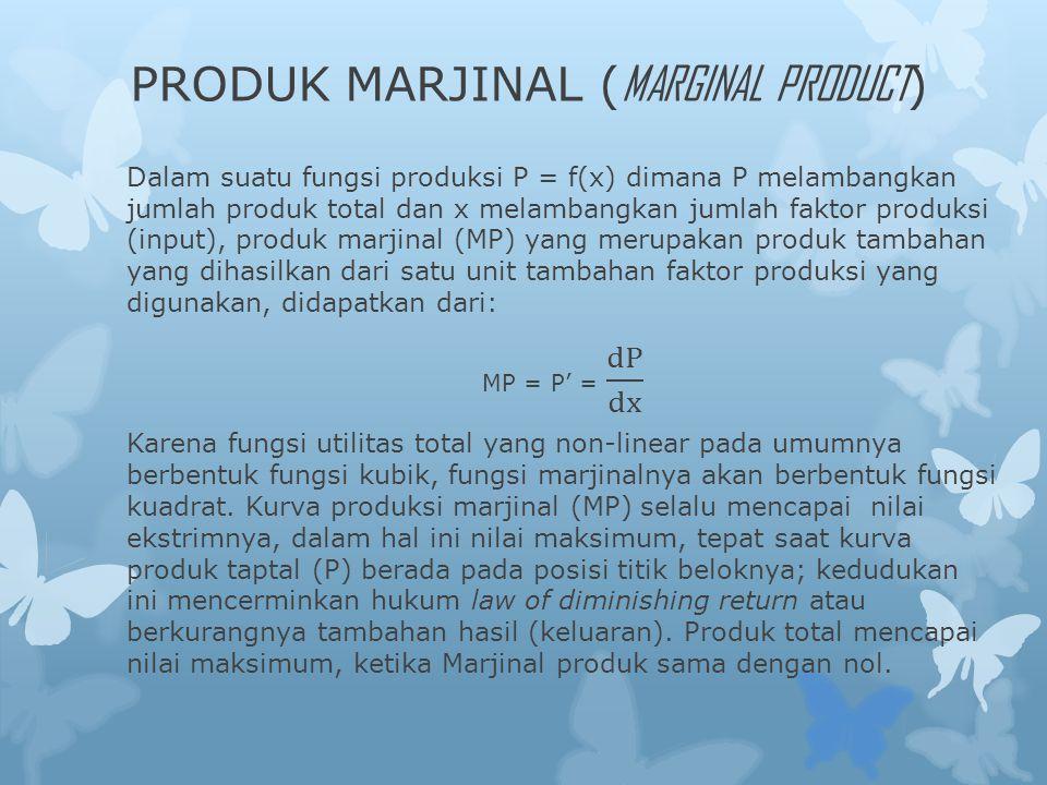 PRODUK MARJINAL ( MARGINAL PRODUCT )
