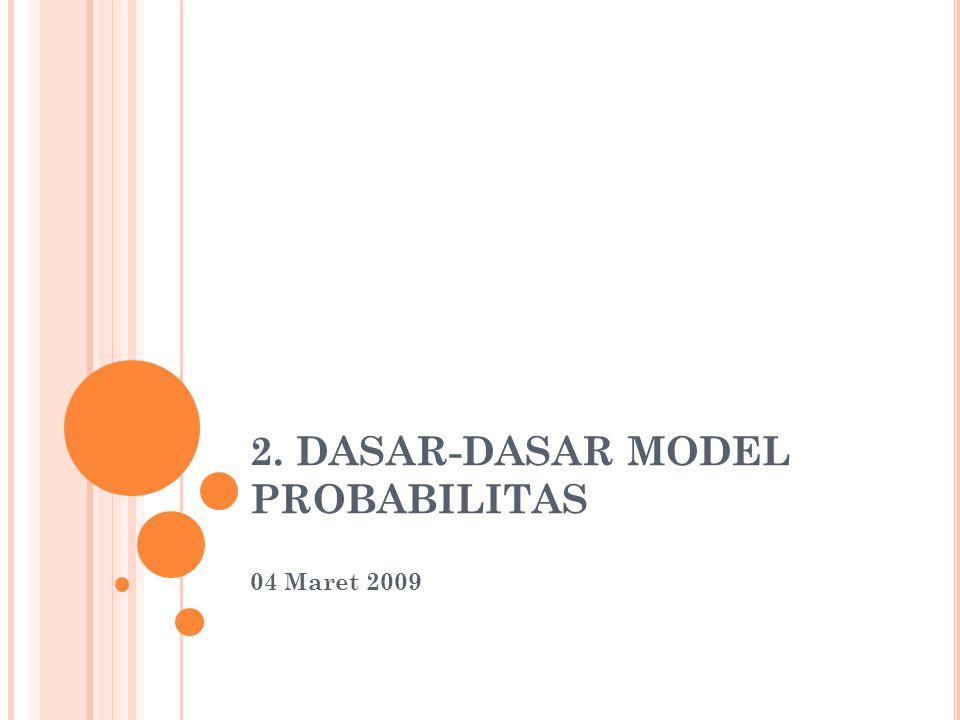 2. DASAR-DASAR MODEL PROBABILITAS 04 Maret 2009