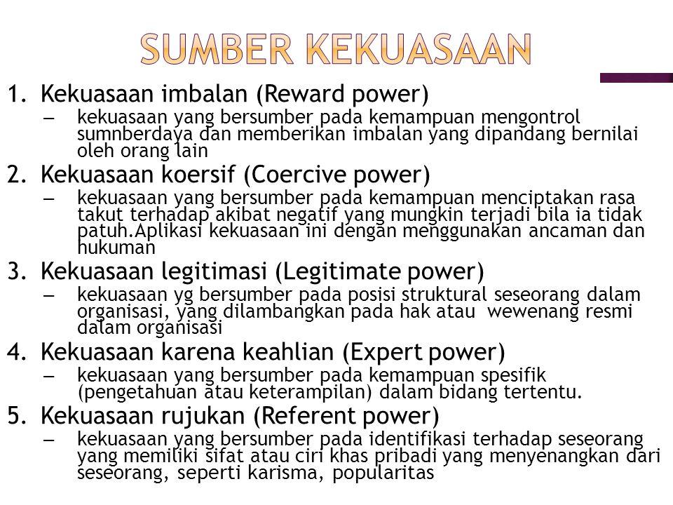 Taktik Menggunakan Kekuasaan Robbins dan Judge (2008, 2:139) ada 9 taktik kekuasaan : 1.