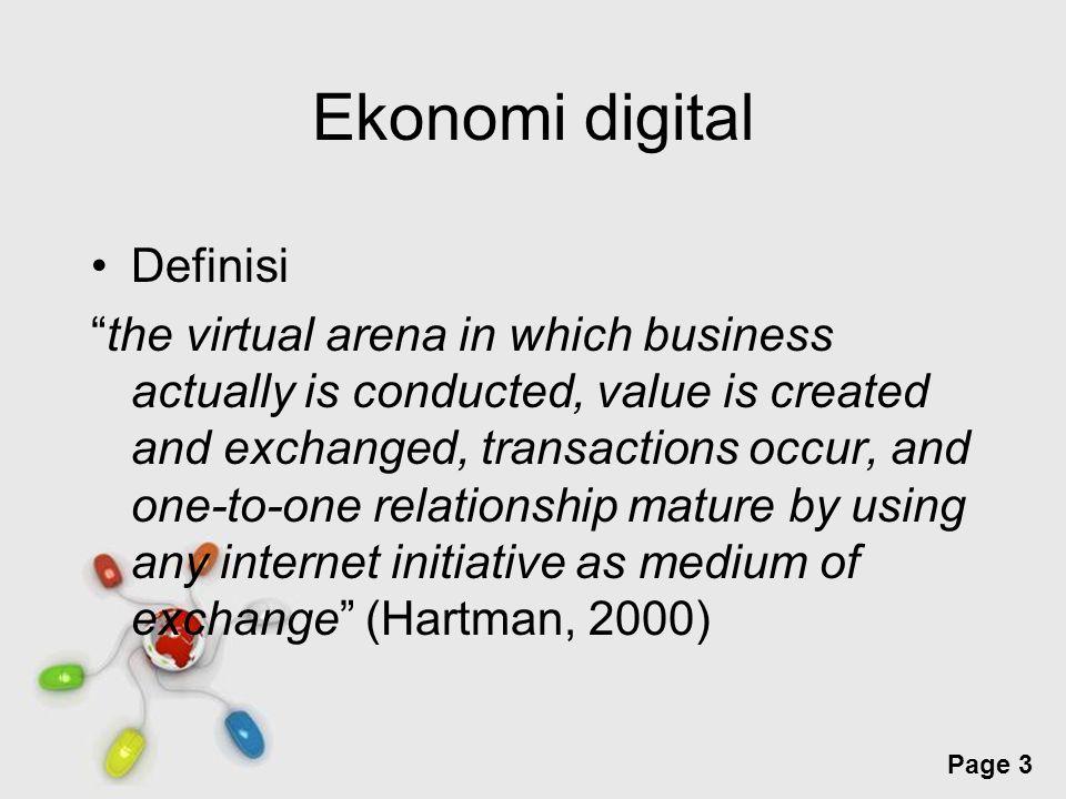 Free Powerpoint Templates Page 4 Untuk bertahan dan memenangkan persaingan di ekonomi digital pelaku harus memahami karakteristik ekonomi digital sebagian besar perusahaan lama yang ingin memanfaatkan keberadaan ekonomi digital harus mengadakan perubahan mendasar pada proses bisnisnya secara radikal (business process reengineering)