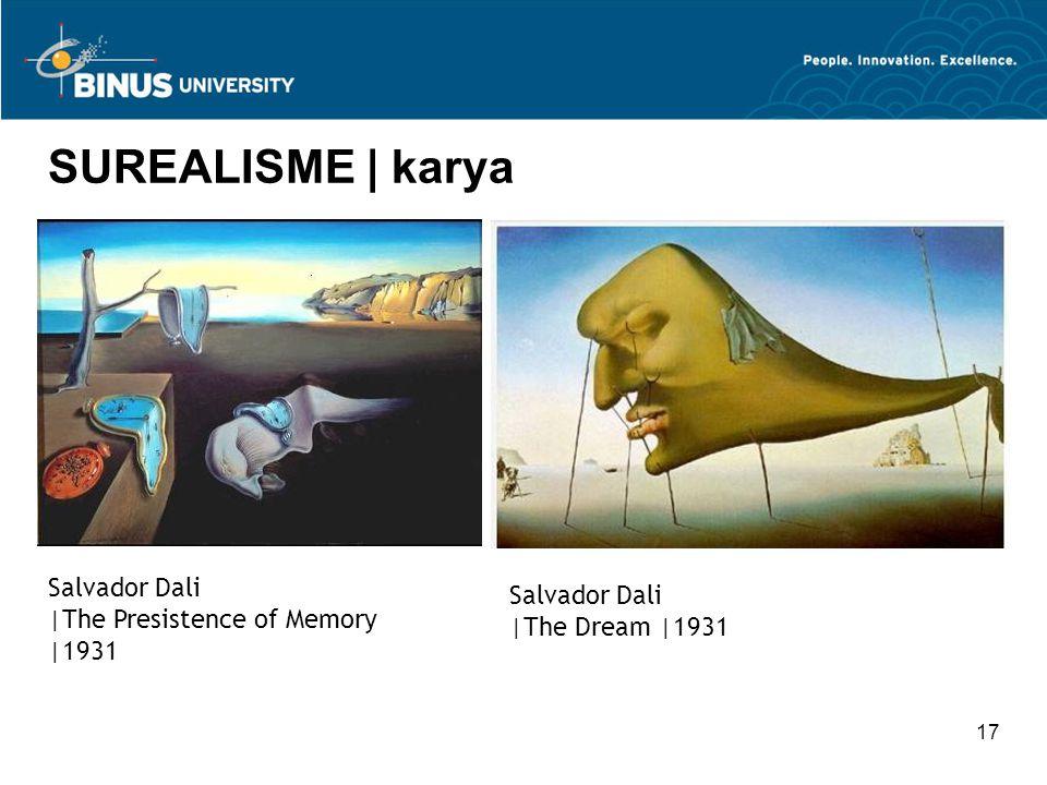17 SUREALISME | karya Salvador Dali |The Presistence of Memory |1931 Salvador Dali |The Dream |1931