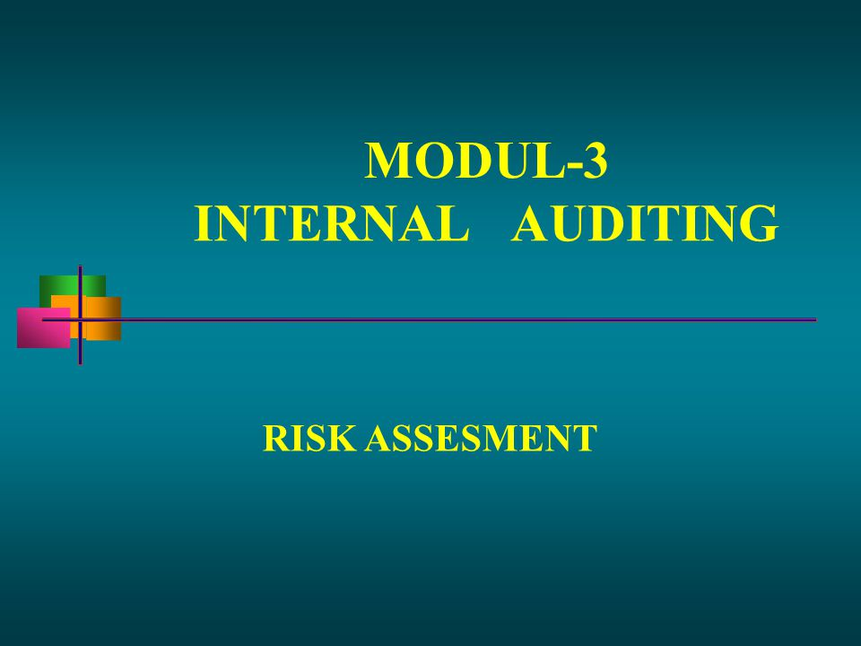 MODUL-3 INTERNALAUDITING RISK ASSESMENT