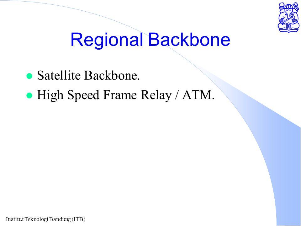 Institut Teknologi Bandung (ITB) Regional Backbone l Satellite Backbone.