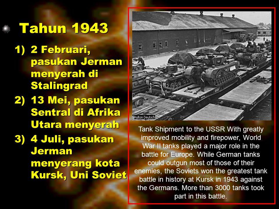h)12 November, Jerman dipukul mundur dalam Pertempuran di el-Alamein di muka Alexandria oleh Jendral Montgomery